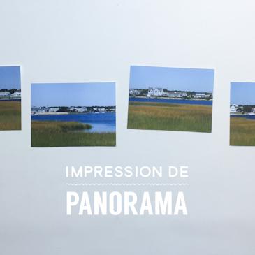 Impression de panoramas par parties