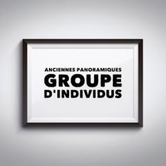 Anciennes Panoramiques de Groupe d'individus