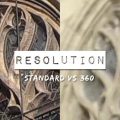 Résolution 360 pour utilisation en format standard