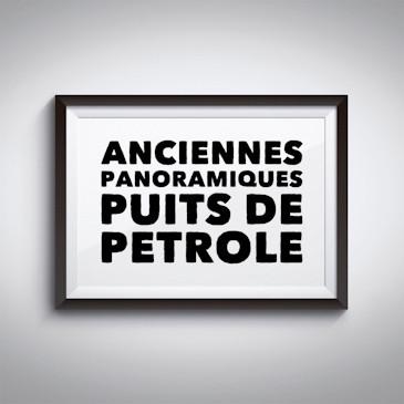 Anciennes panoramiques Puits de pétrole