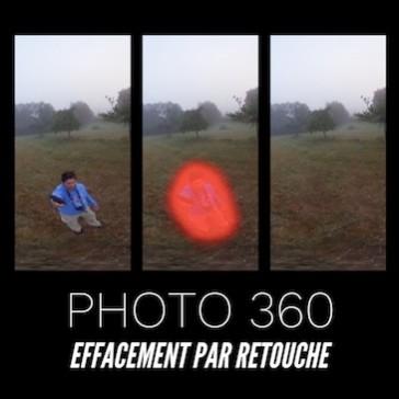 Photo 360 : Effacement par retouche
