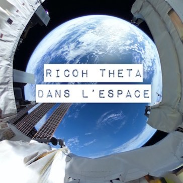 Ricoh THETA dans l'espace