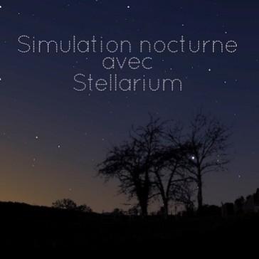 Simulation de paysage nocturne avec Stellarium
